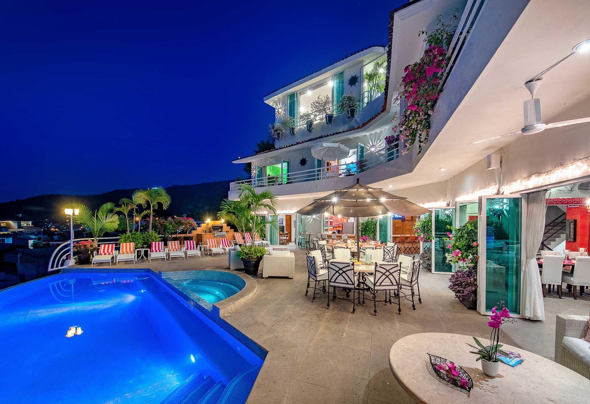 beautiful terrace and pool at casa yvonneka